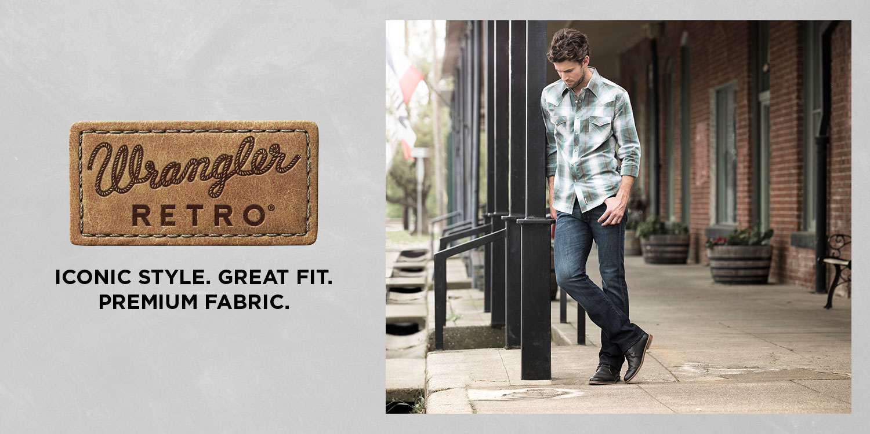Wrangler Men s Retro Slim Fit Straight Jean 7fb7418c370