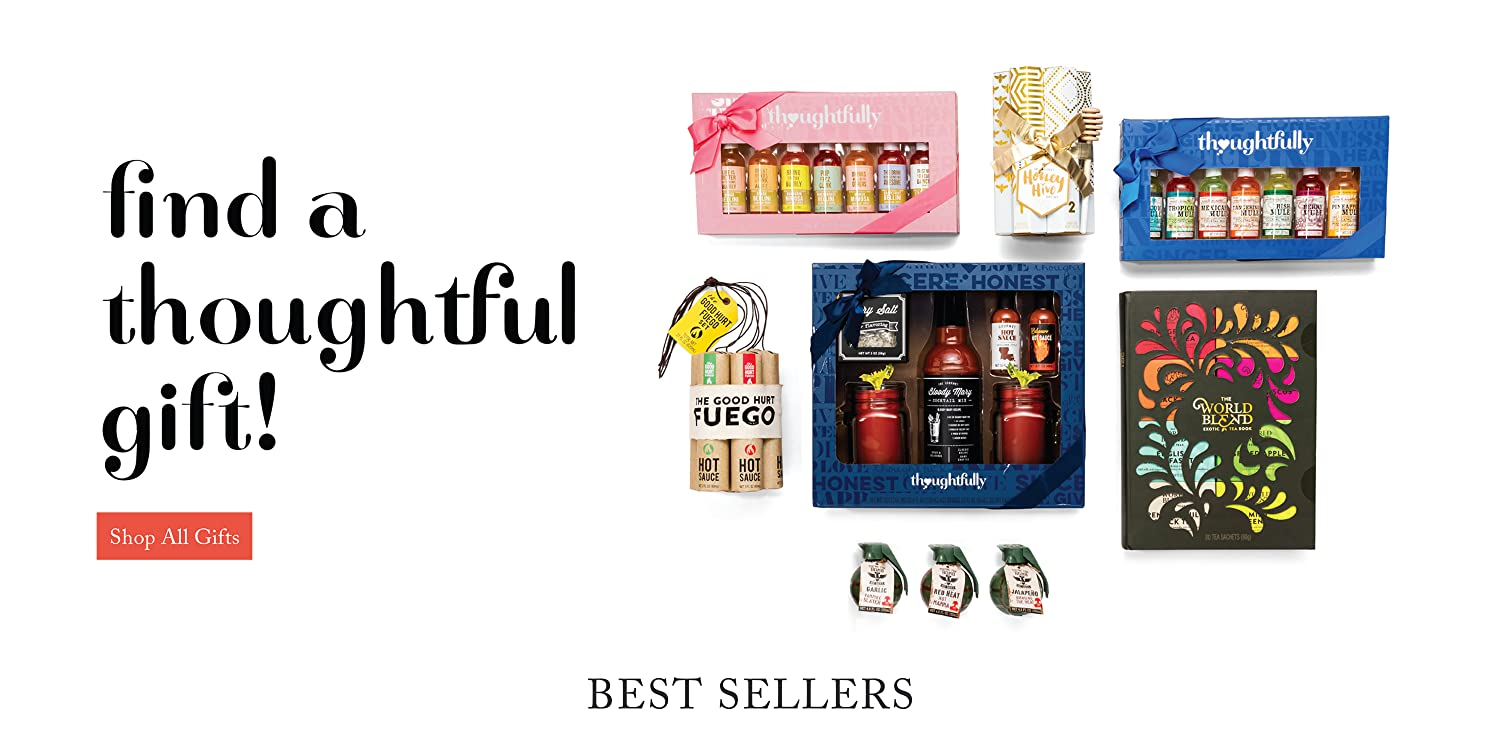 fa7abae3c0a Thoughtfully Gifts, The Good Hurt Fuego: A Hot Sauce Gift Set for Hot Sauce  Lover's, Sampler Pack of 7 Different Hot Sauces Inspired by Exotic Flavors  and ...