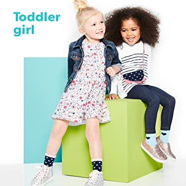 Simple Joys by Carters Baby and Toddler Girls 12-Pack Sock Crew