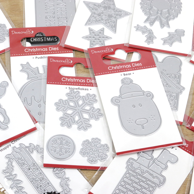 Happy Christmas for cards and craft Dovecraft Christmas Dies