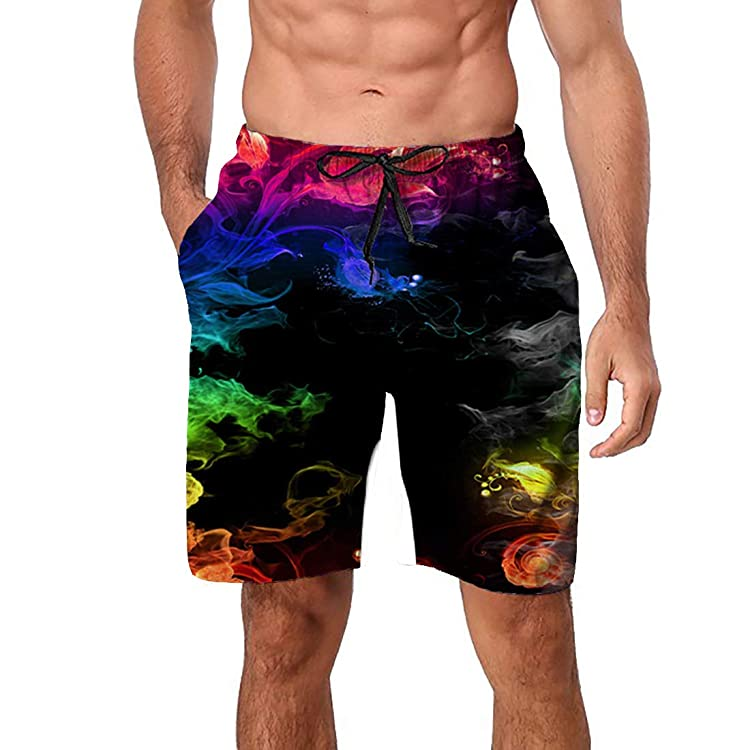 Oh Deer Christmas Mens Beach Shorts Swim Trunks Outdoor Shorts Sports Shorts