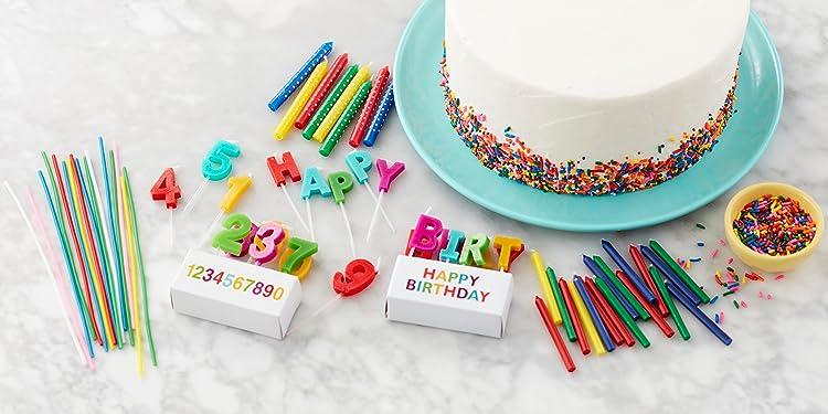 Wilton Numeral 3 Birthday Candle Cake Decoration Rainbow Colours Bakewares