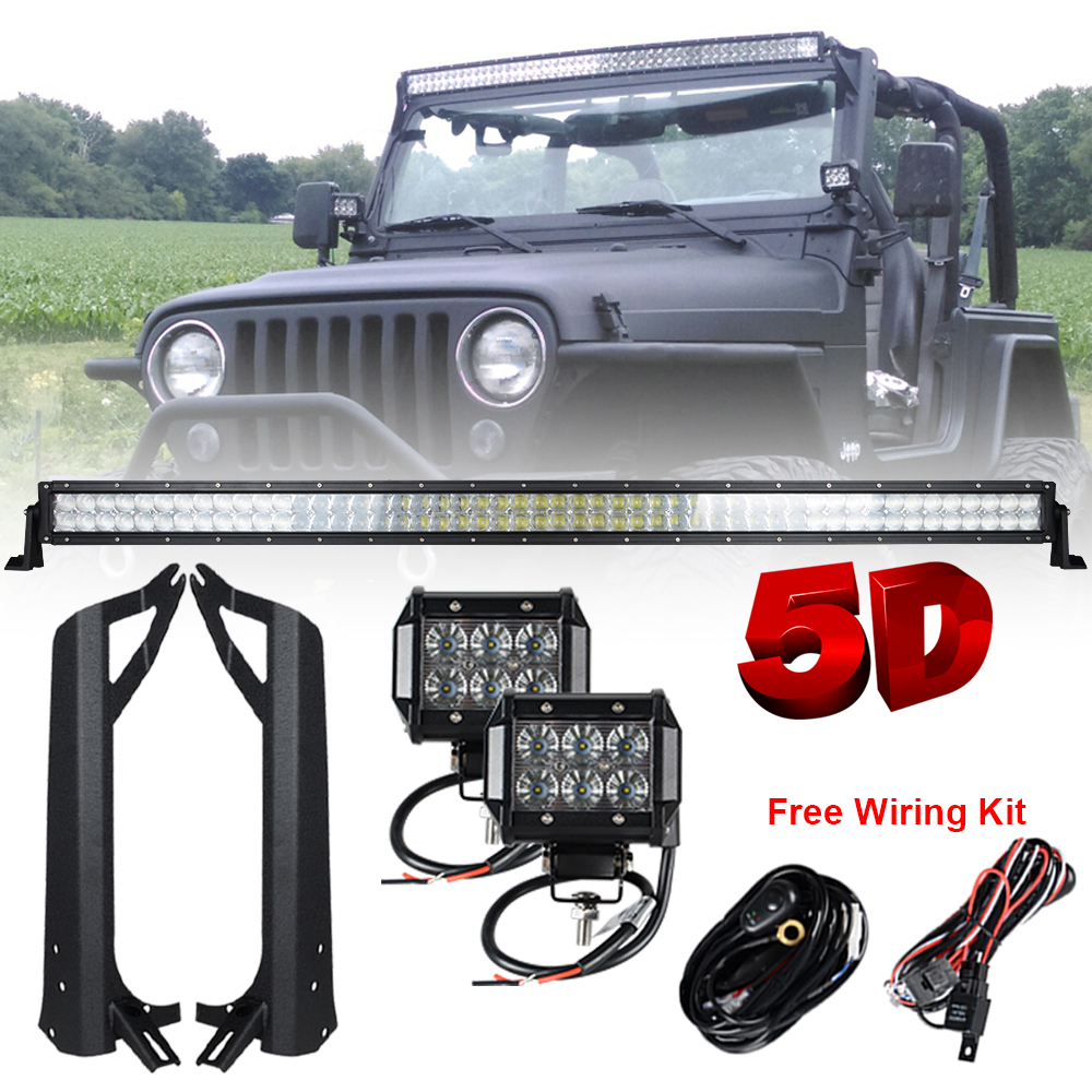 Racbox Off Road Light Bar Wiring Led Jeep Jk