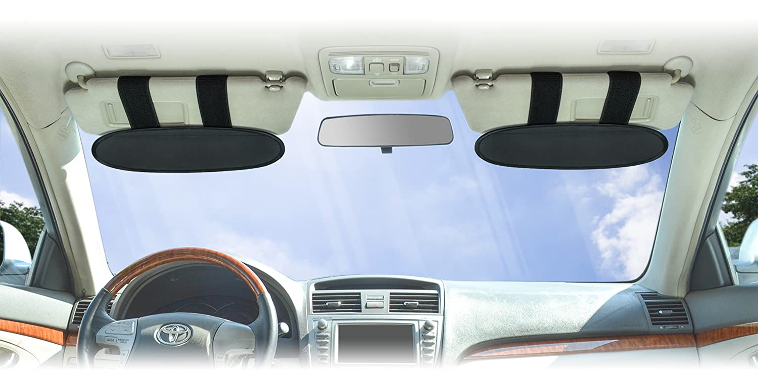 WANPOOL Anti-Glare Anti-Dazzle Vehicle Visor Sunshade Extender Sun Blocker for C