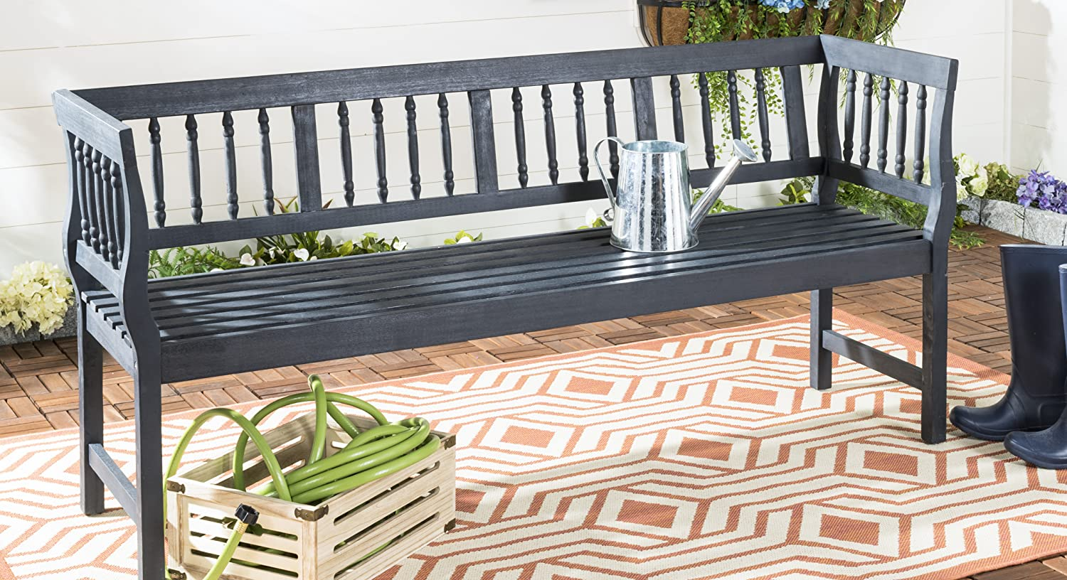 Cool Amazon Com Safavieh Outdoor Benches Ncnpc Chair Design For Home Ncnpcorg