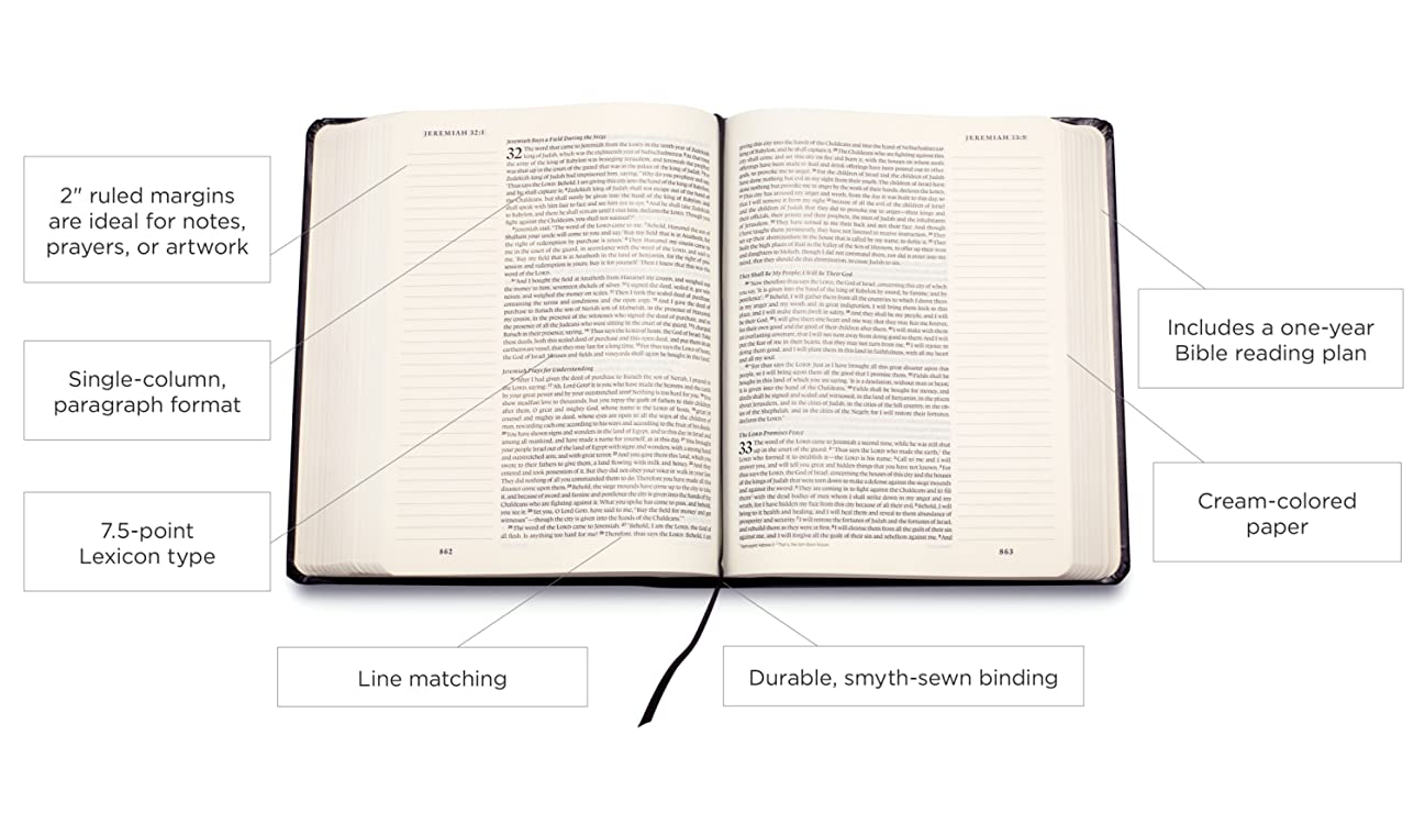 Amazon com: Crossway: ESV Single Column Journaling Bible