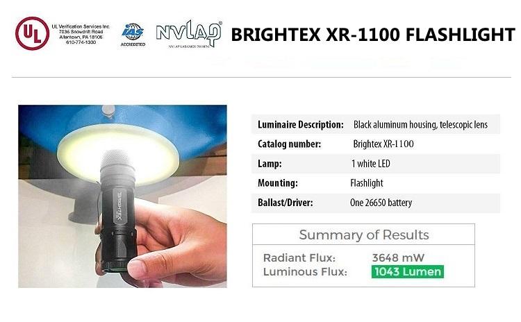 2 Pack Brightex XR-1100 Small Powerful Tactical Flashlight #1 Brightness Light!
