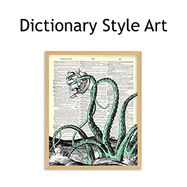 dictionary style wall art