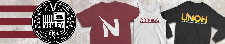 Official NCAA University of Northwestern Ohio Racers PPUNO04 Mens//Womens Premium Triblend T-Shirt