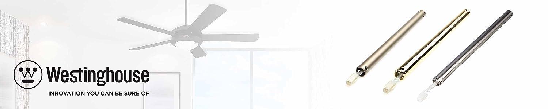 finition en chrome satin/é 46 x 2,18 cm Westinghouse Lighting 6564740 Tige dextension de 46 cm M/étal