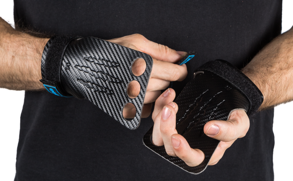 Earwaves /® Spino Fingerless Grips Calleras de Microfibra sin Agujeros para los Dedos
