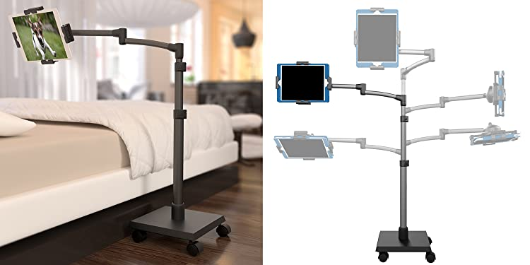 LEVO G2 DELUXE TABLET STAND - Sturdy construction and a long reach complete your tablet experience.