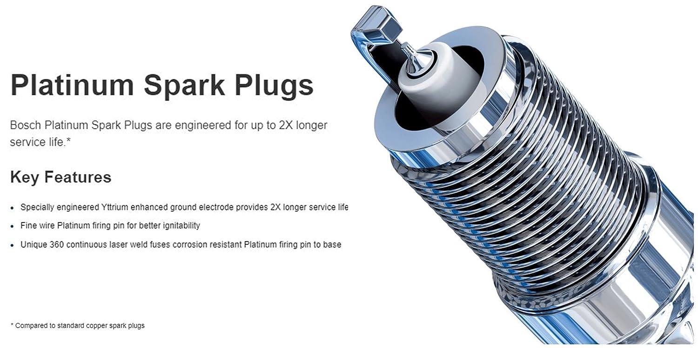 Spark Plug-OE Fine Wire Platinum Bosch 6731