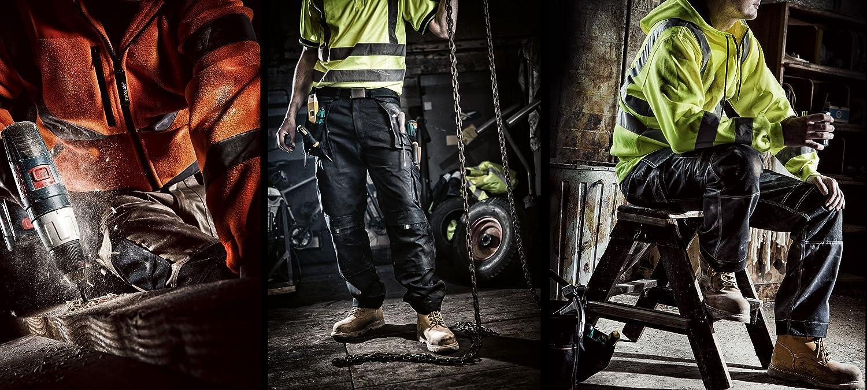 Renforts Invista Cordura DINOZAVR Allyn Pantalon de Travail pour Hommes avec Poches Genouill/ères Plusieurs Couleurs /Él/éments r/éfl/échissants 3M