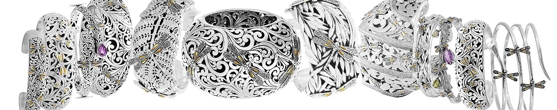 Devata Heritage Classic Sterling Silver Cuff Bracelet Rose TZ 18K or DHK3135PT