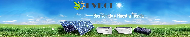 Terraza Luces Solares de Jard/ín Sensor de Movimiento de Radar de 360/° Luces de Seguridad Inal/ámbrica Impermeable Un Modo Para Patio Camino LVDOI Luces Solares Decoraci/ón al Aire Libre Garaje