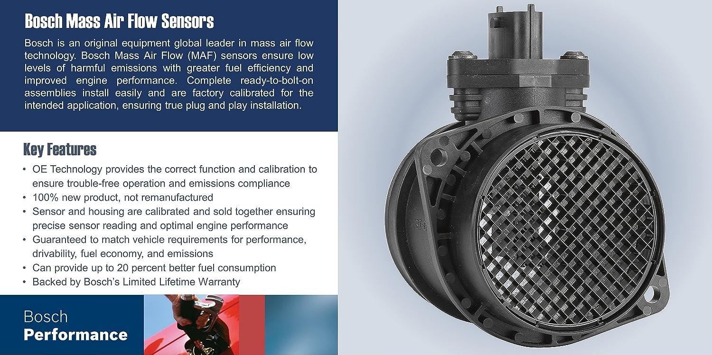 MAF Bosch Original Equipment 0280218175 Mass Air Flow Sensor New