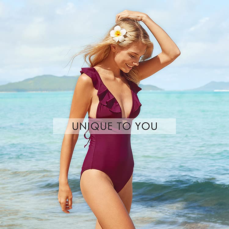 833b33ac3a2 Recommended for You. CUPSHE Women's Stand by You Print Lace Up One-Piece  Swimsuit ...