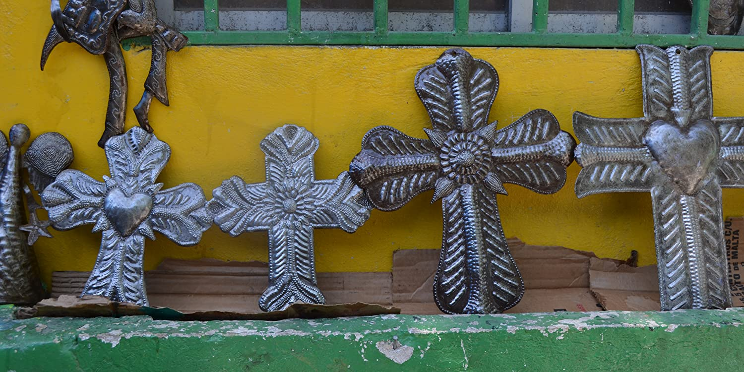 Amazon.com: it\'s cactus - metal art haiti: Devotional crosses ...