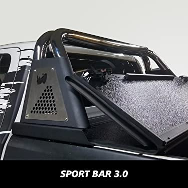 Go Rhino 911600PS Polished Stainless Steel Sports Bar 2.0 Complete Kit Sports Bar and Power Actuated Retractable Light Mount
