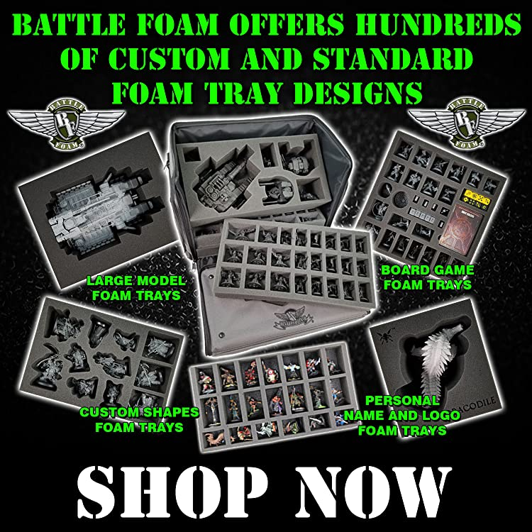 Amazon Com Battle Foam Battle Foam Battle foam is the miniature gaming industry's leading custom bag and foam manufacturer. amazon com battle foam battle foam