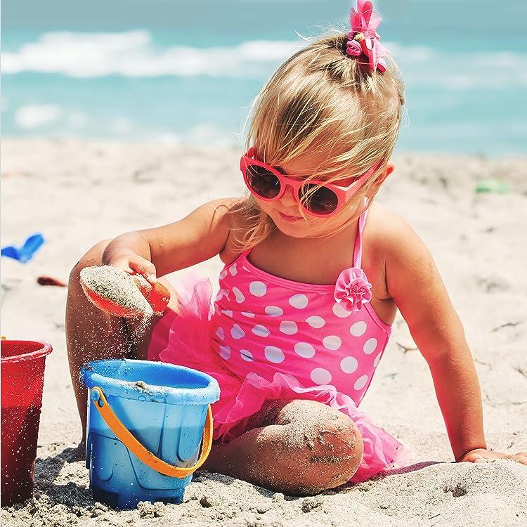 Newmao Toddler Girls Swimsuit Cartoon Rashguard Sun Protection Suit One Piece Swimwear