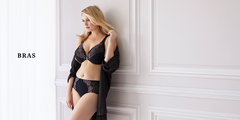 Bramour by Glamorise Womens Full Figure Plus Size Wirefree MagicLift Iridescent Lace Bra Madison #7001 Full Coverage Bra