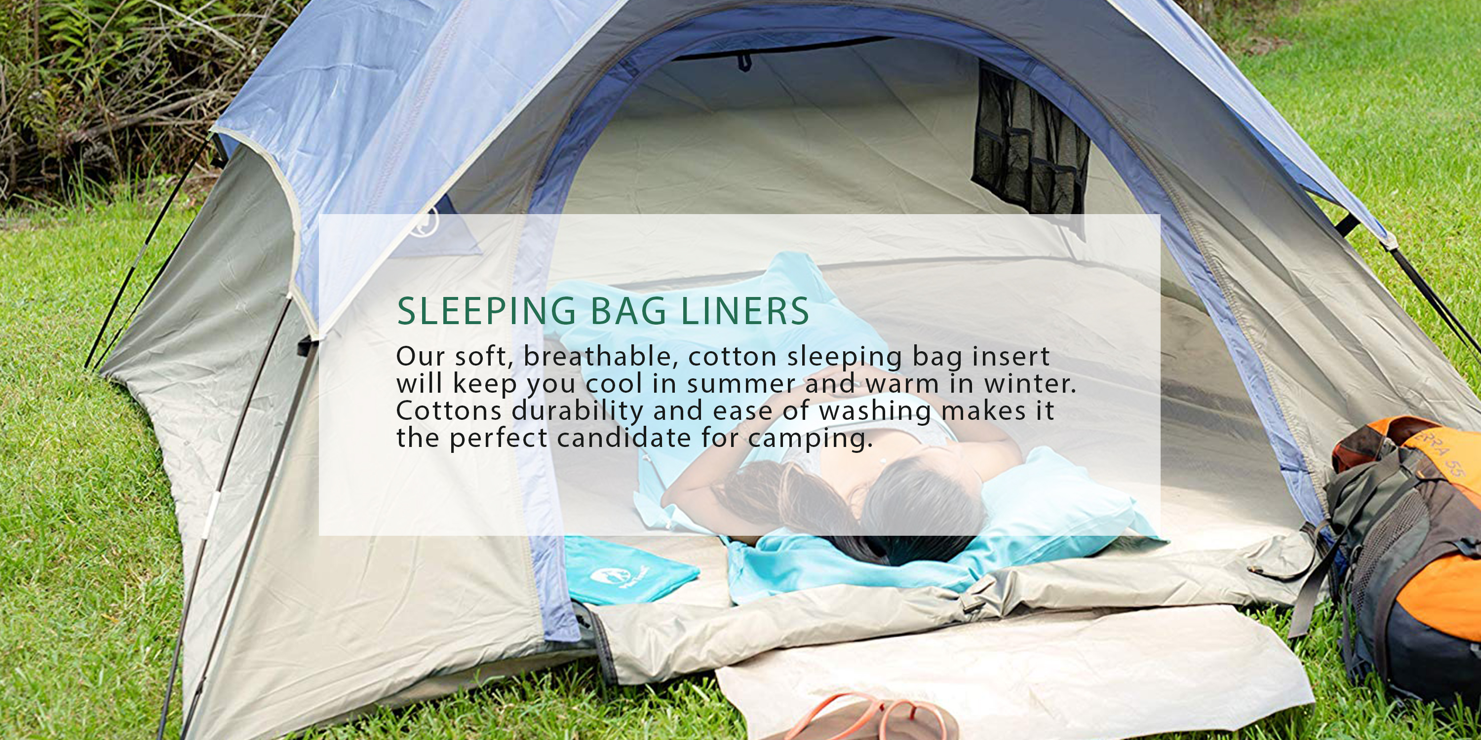 Pike Trail Sleeping Bag Liner Travel and Camping Sheet Lightweight and Compact Insert with Full Length Zipper and Guarantee