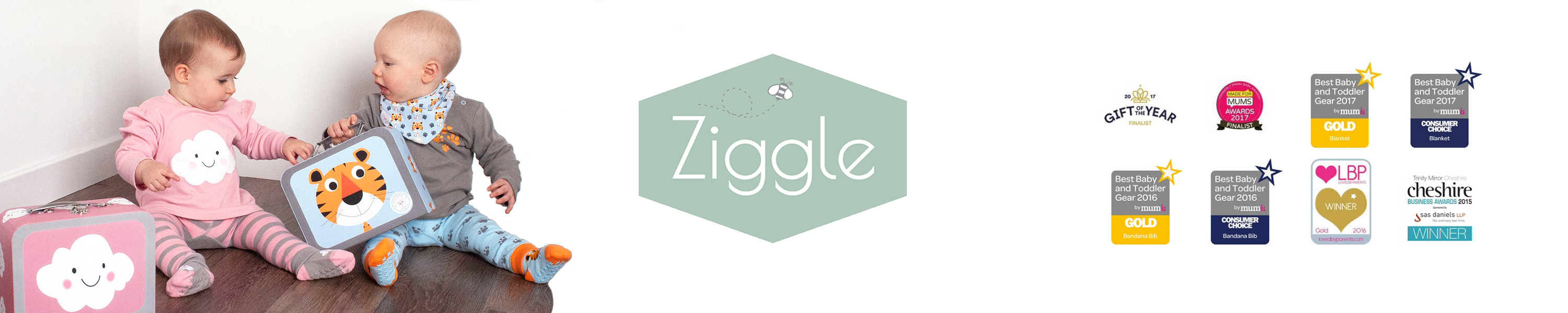 Ziggle Baby Gift Box Set Of 4 Pairs of Soft Comfy Stay Up Cotton Rich Socks To Match Dino And Stars Bibs