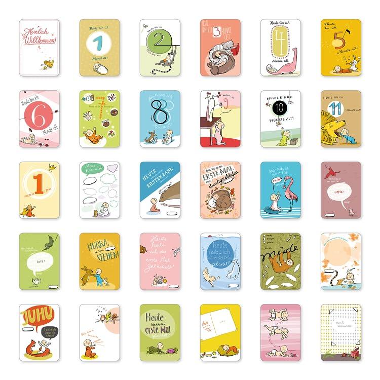 Geschenk zur Geburt 365 Tipps/&Tricks Kalender Babytagebuch Babybuch Mein 1