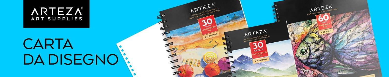 Matite Colorate Carta Spessa 60 fogli 150gsm Pastelli Penne Gel Sketchbook Rilegato a Spirale 30 Fogli Ciascuno Carboncini ARTEZA Album da Disegno Fogli Neri 22.9x30.5cm Set da 2 Per Grafite