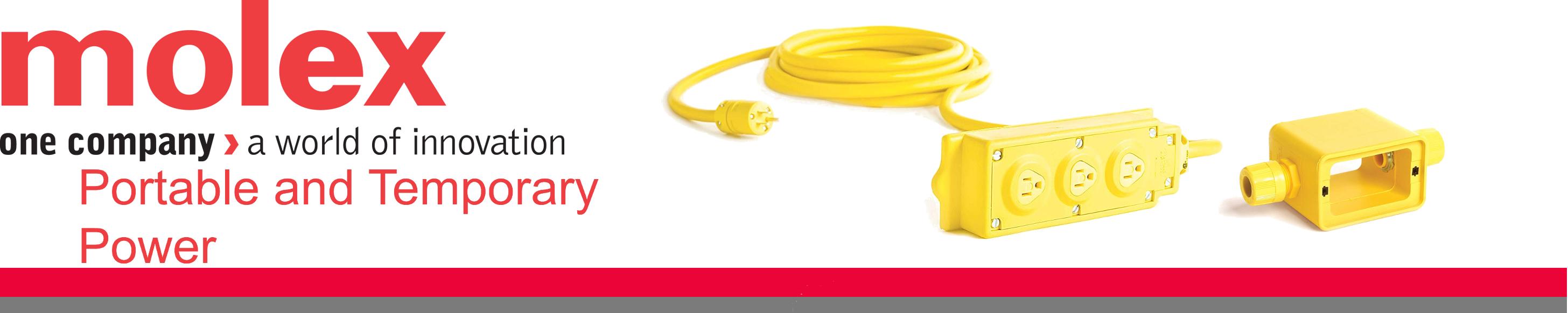 Flip Lid 25ft Cord Length Molex 12//3 SOOW Cord Type Woodhead 3330RA123 Super-Safeway Angled Outlet Box NEMA 5-15 Configuration