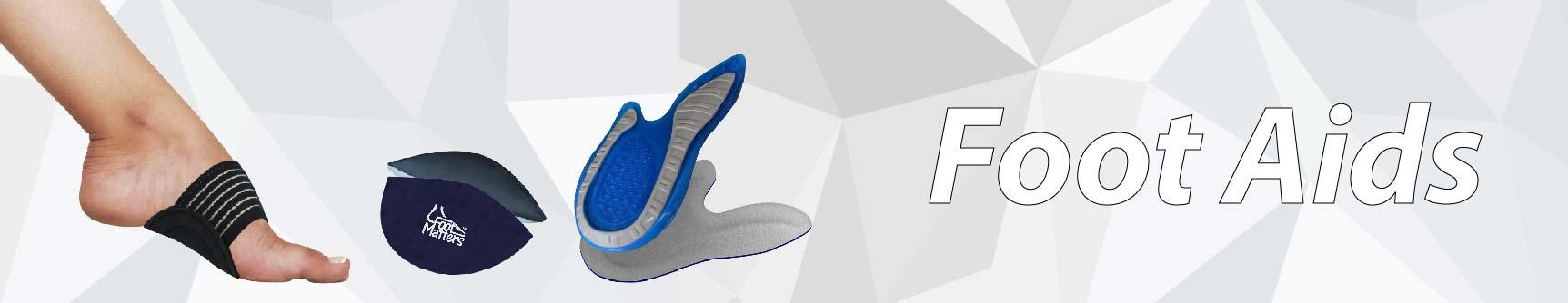 FootMatters Premium Gel Heel Pain Cushion with Arch Cushion Size US Men 8-13