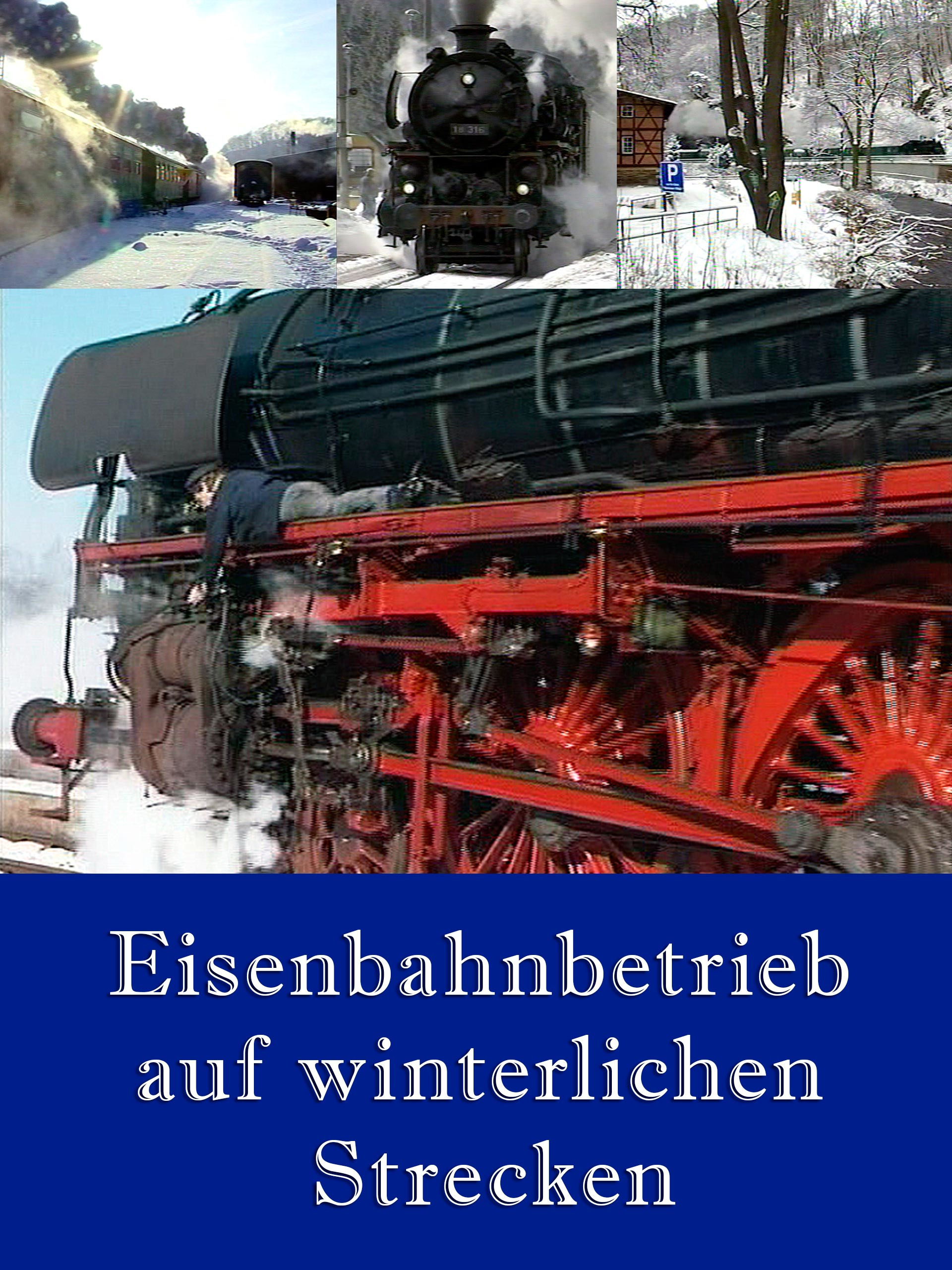 Eisenbahnbetrieb auf winterlichen Strecken