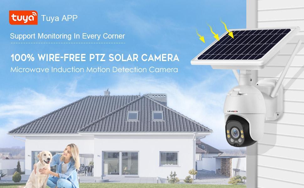 Solar PTZ Camera Outdoor Wireless