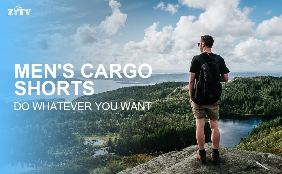 ZITY Mens Cargo Shorts