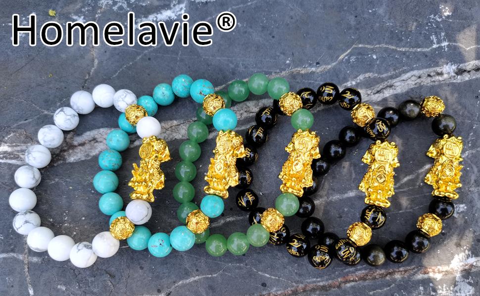 real stone feng shui bracelet