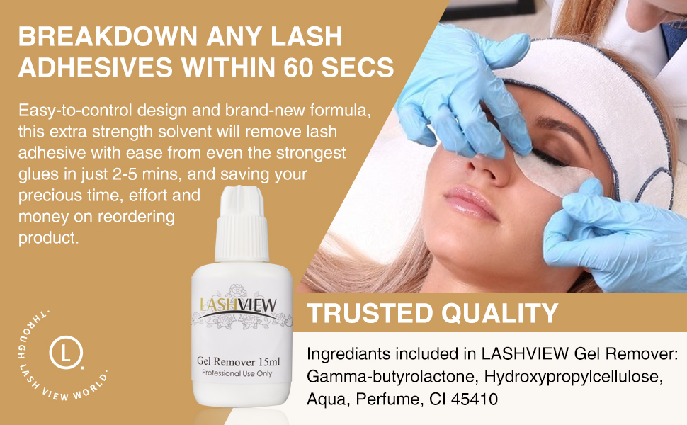 gel remover for lash extensions