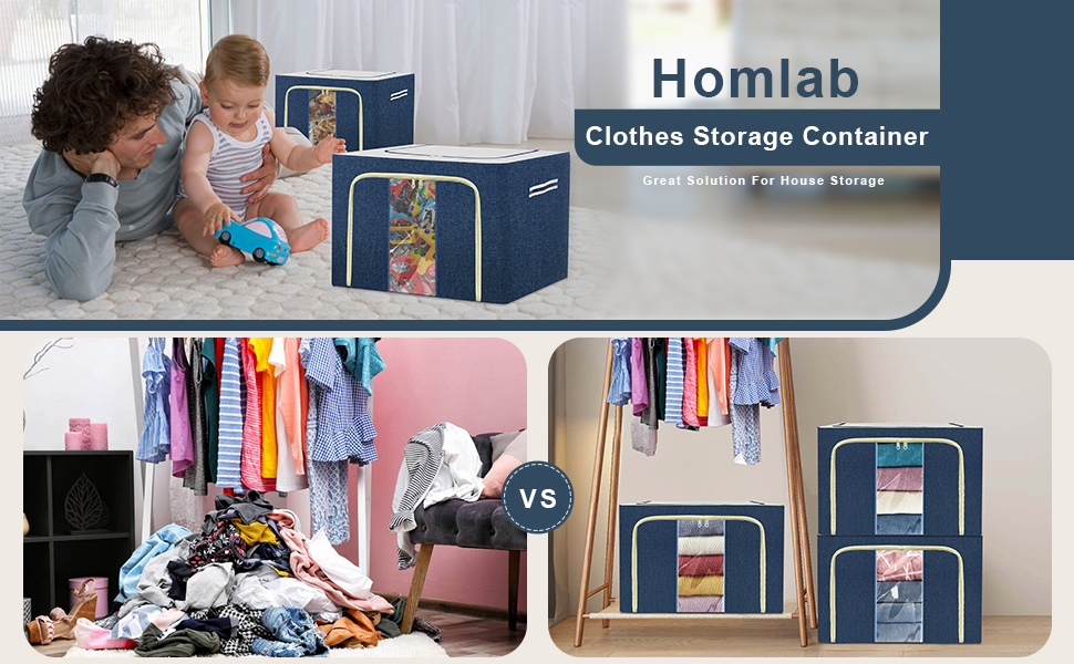 01+2 large capacity clothes storage organizers