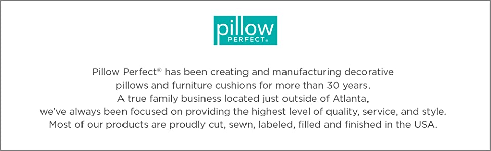 Pillow Perfect Outdoor Patio Cushions