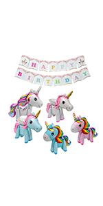 5PCS Unicorn Ballons