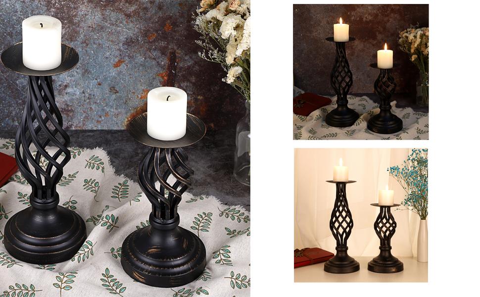 Retro Decorative Candle Holders