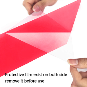 These correction gel light filters are protected by coverings on the both sides of filters