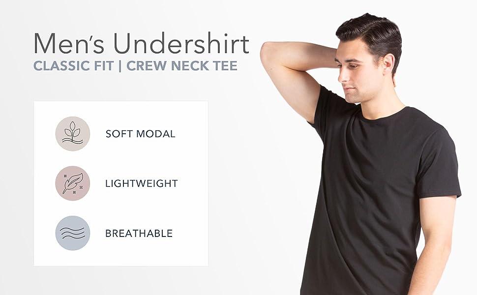 fishers finery mens undershirt mens crew neck tee set of undershirts