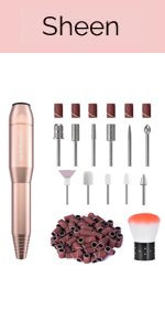 Portable Electric Nail Drill, Compact Efile Electrical Professional Nail File Kit