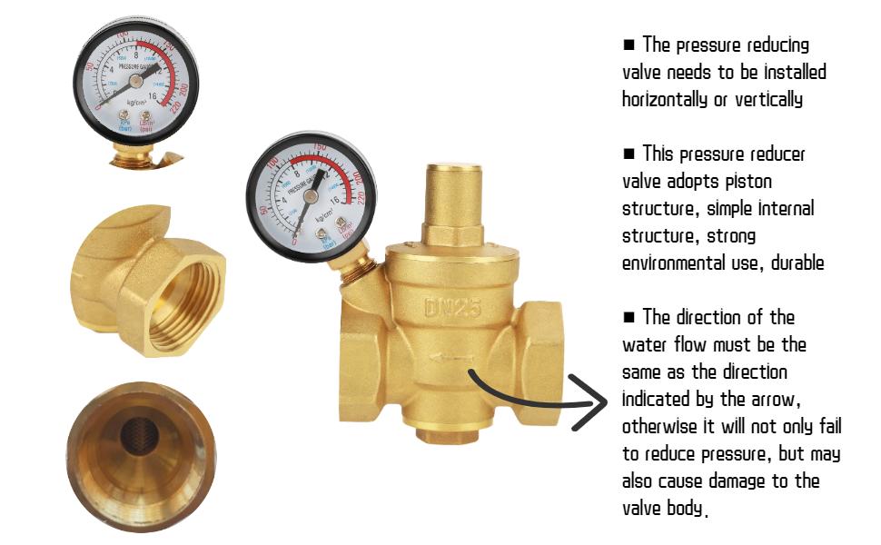 pressure reducer 3/4 pressure reducer irrigation water pressure regulator