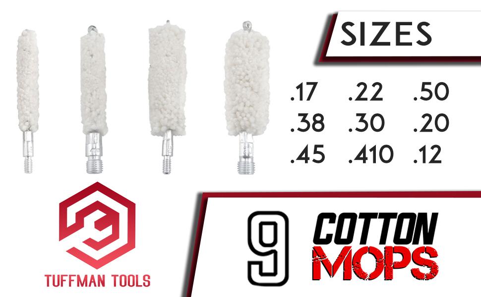 gun cleaning kit cotton mop