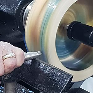 Acrylic, Epoxy, Resin or Wood Turning on a Lathe with the Simple Shear Cutting Finisher