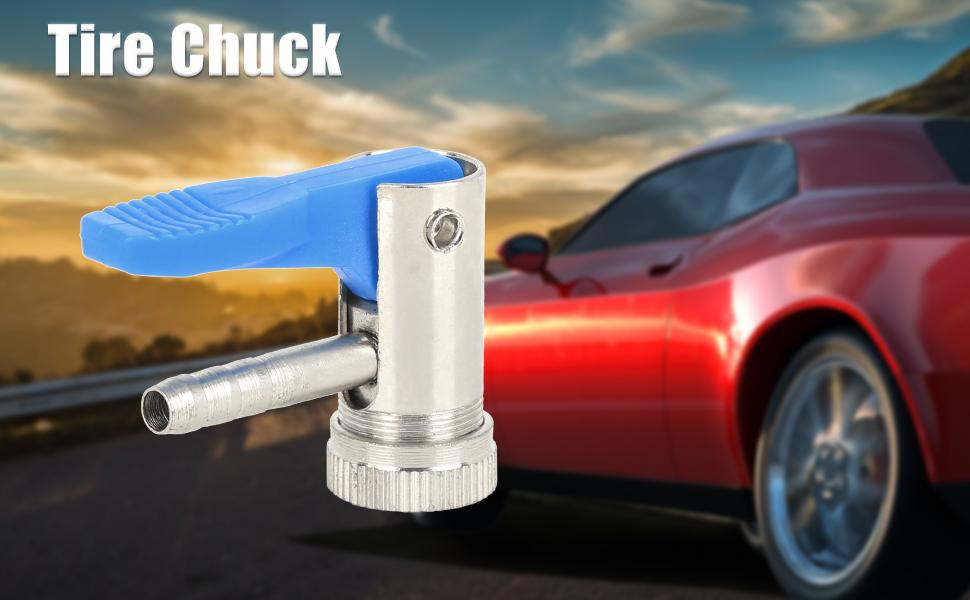 Car Tyre Inflator Valve Chuck Connector Compressor Accessories for 6mm Air Hose