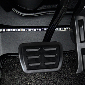 Place the strips in the footwell and other areas.